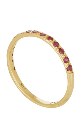 Amador 2mm Pave - Ruby