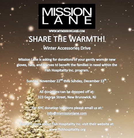 Mission Behind Mission Lane Fish Hospitality Winter Accessories Drive mymissionlane