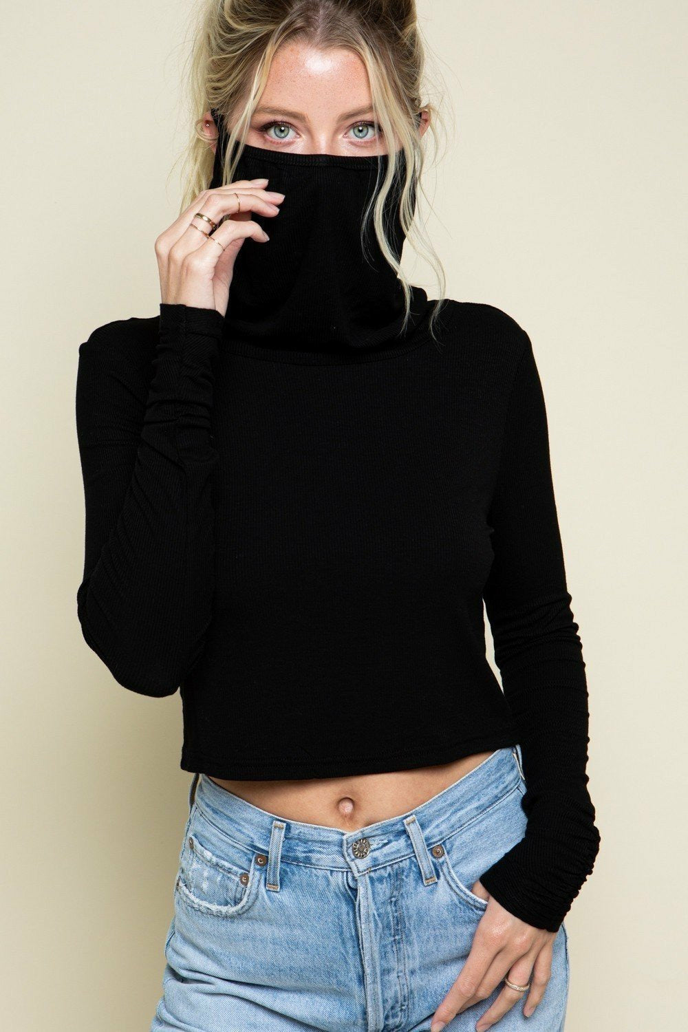 mission-lane,Mask On Knit Top,Tops.