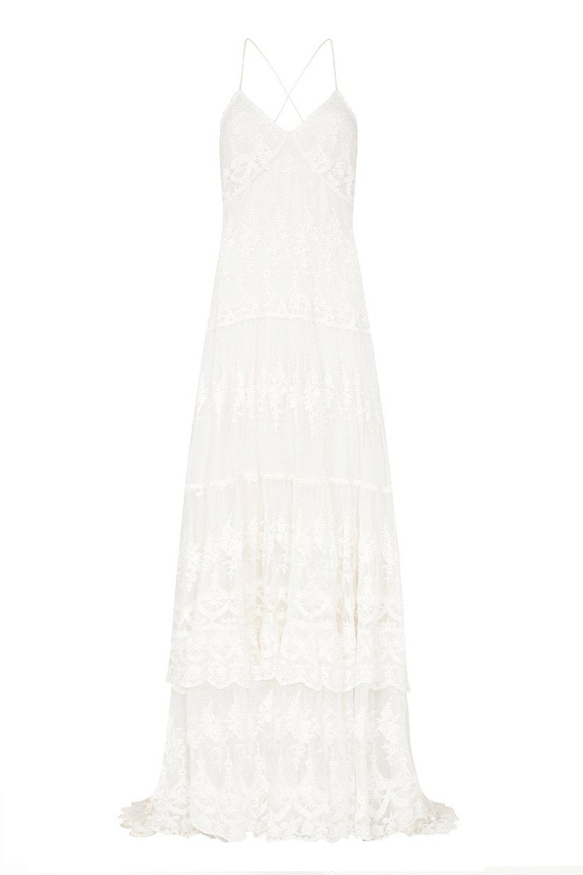 Spell Bride Canyon Moon Mesh Gown #rollover