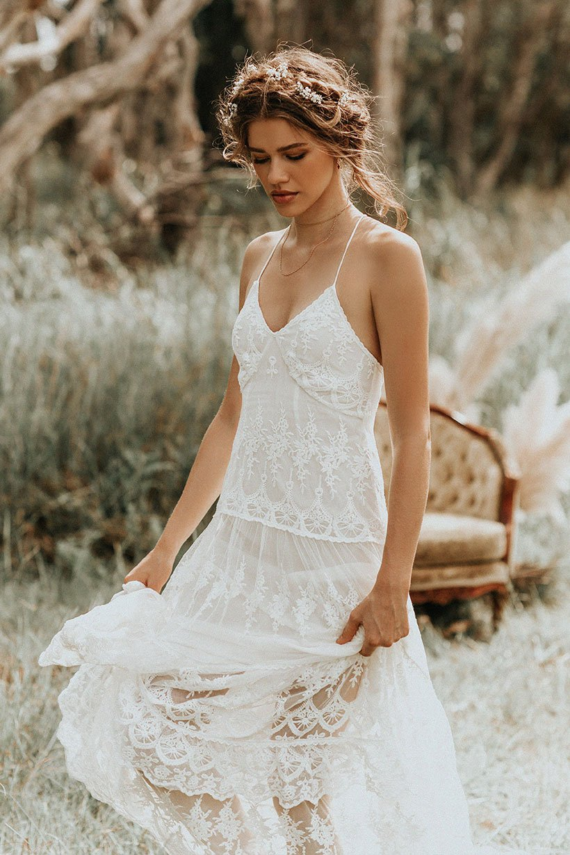 Isabell Andreeva wears Spell Bride Canyon Moon Mesh Gown