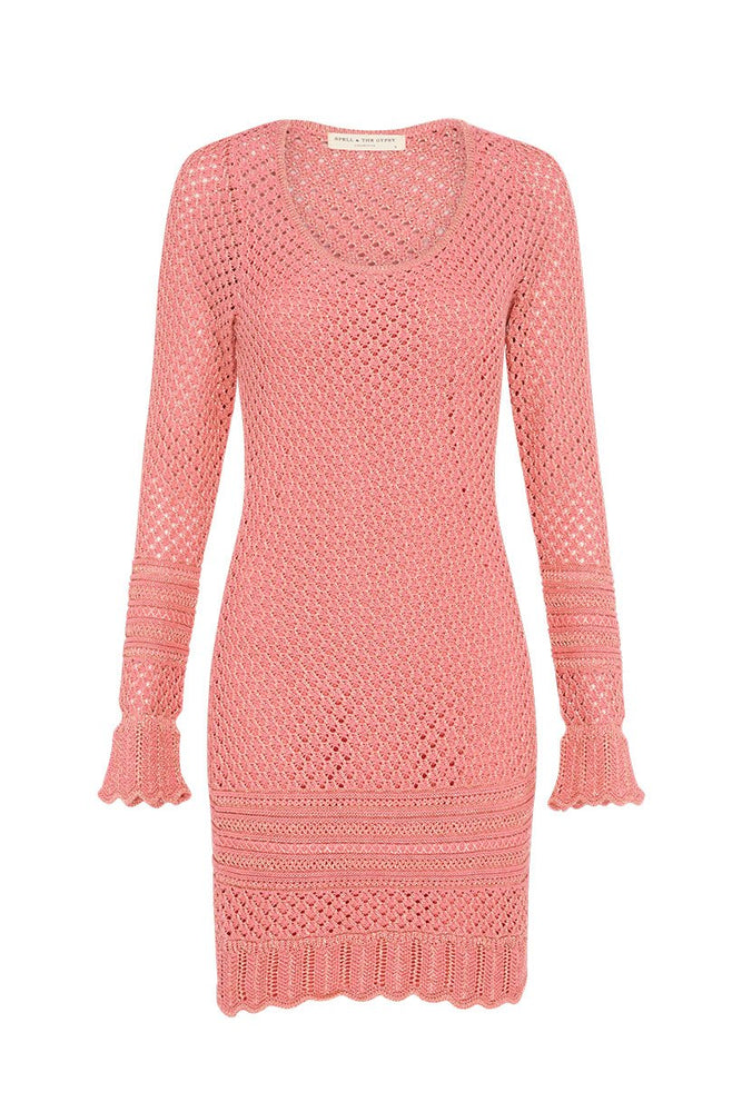 Atlantic Crochet Mini Dress