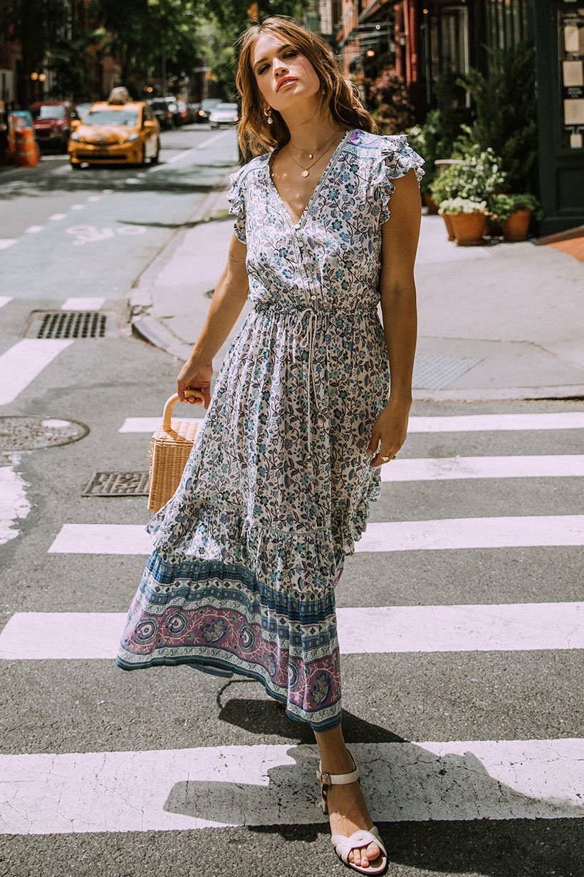 Stormi Bree Wears Spell Dahlia Midi Dress