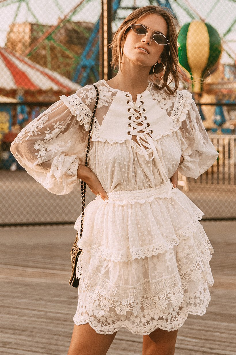 Stormi Bree Wears Spell Dawn Lace Blouse