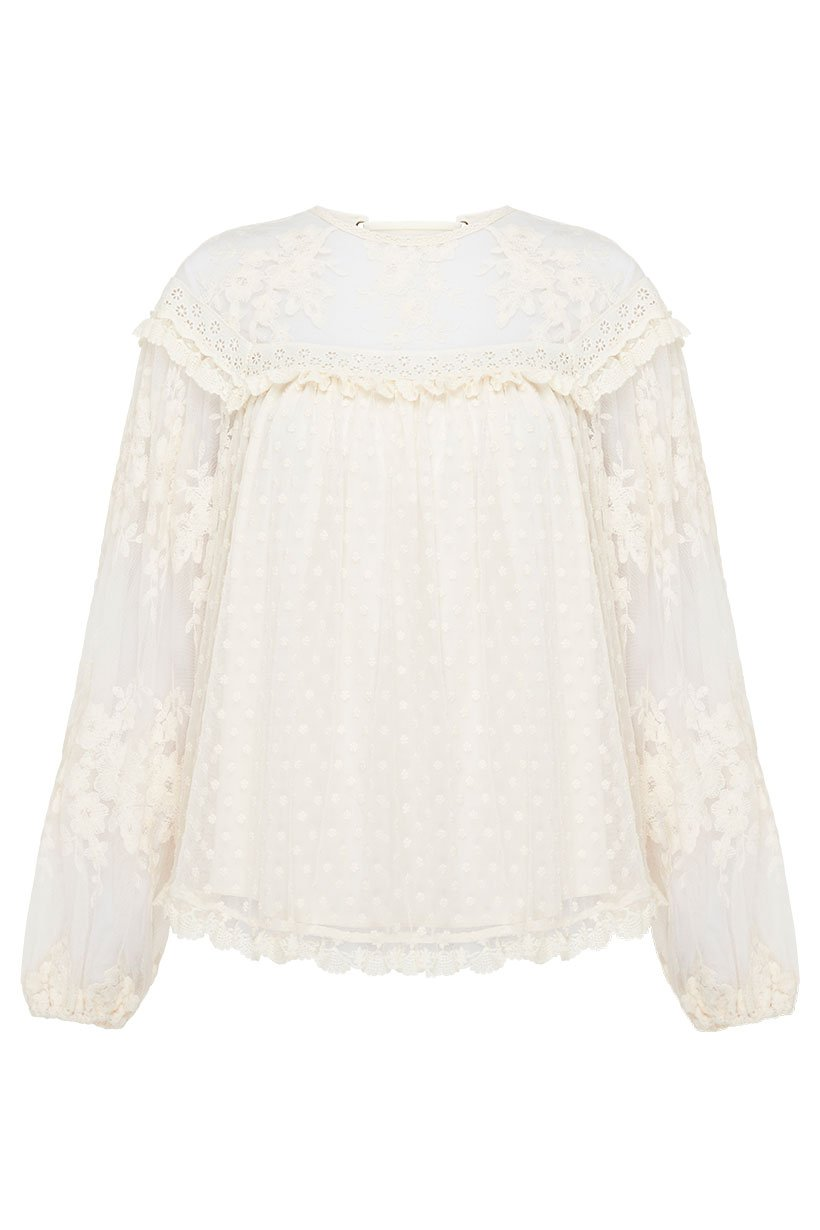 Spell Dawn Lace Blouse #rollover