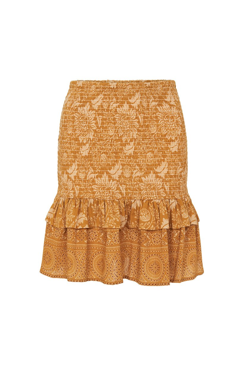 Spell Lioness Ruched Mini Skirt #rollover