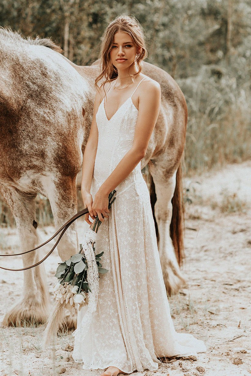 Isabell Andreeva wears Spell Bride Lucette Gown