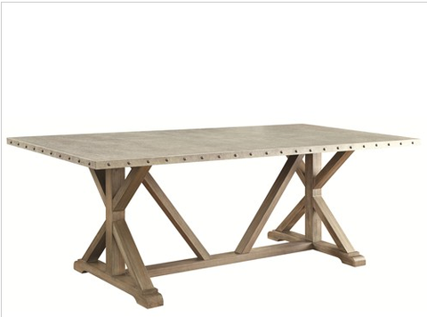 Driftwood and Metal Dining Table