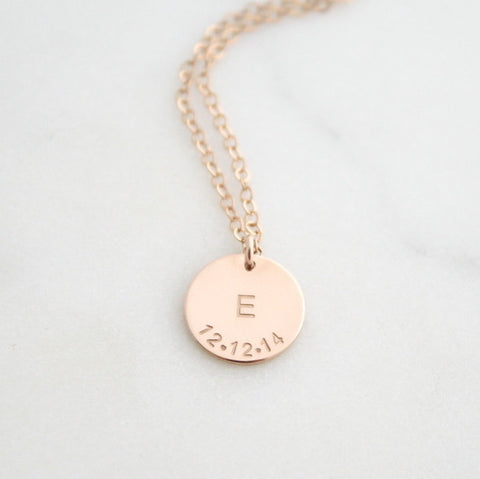 Necklaces eden zoe initial and date necklace mozeypictures Choice Image