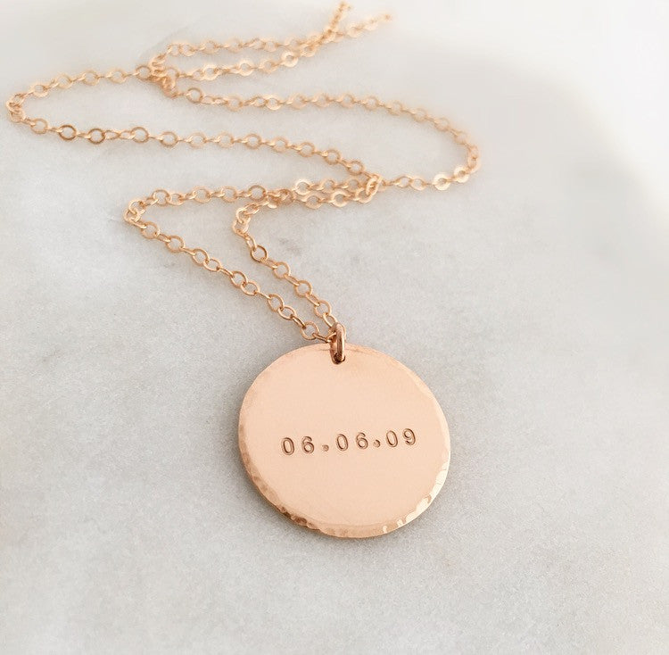 to your roman wedding caldendar date chic stamped ways numerals necklace weddings story wear necklaces around main calendar courtesy