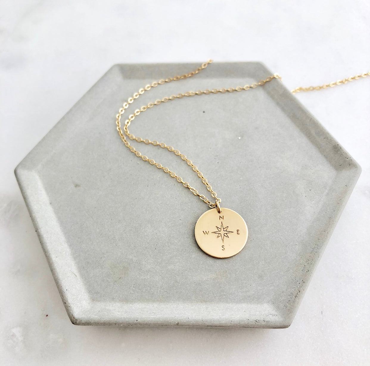 gold in editorial necklace cngcp personalised lily by charmed plated compass jewellery charm