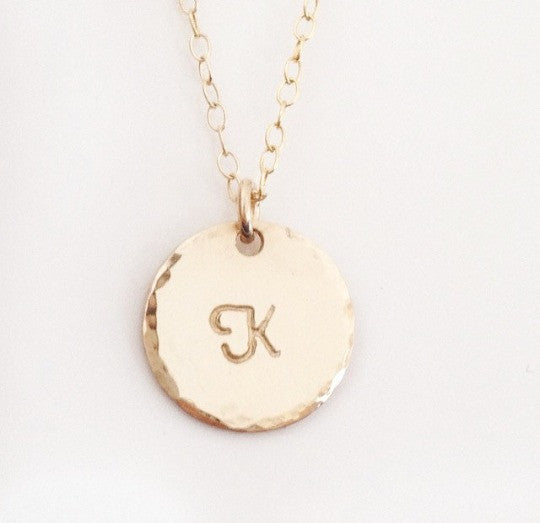 pendant k us initial necklace icing