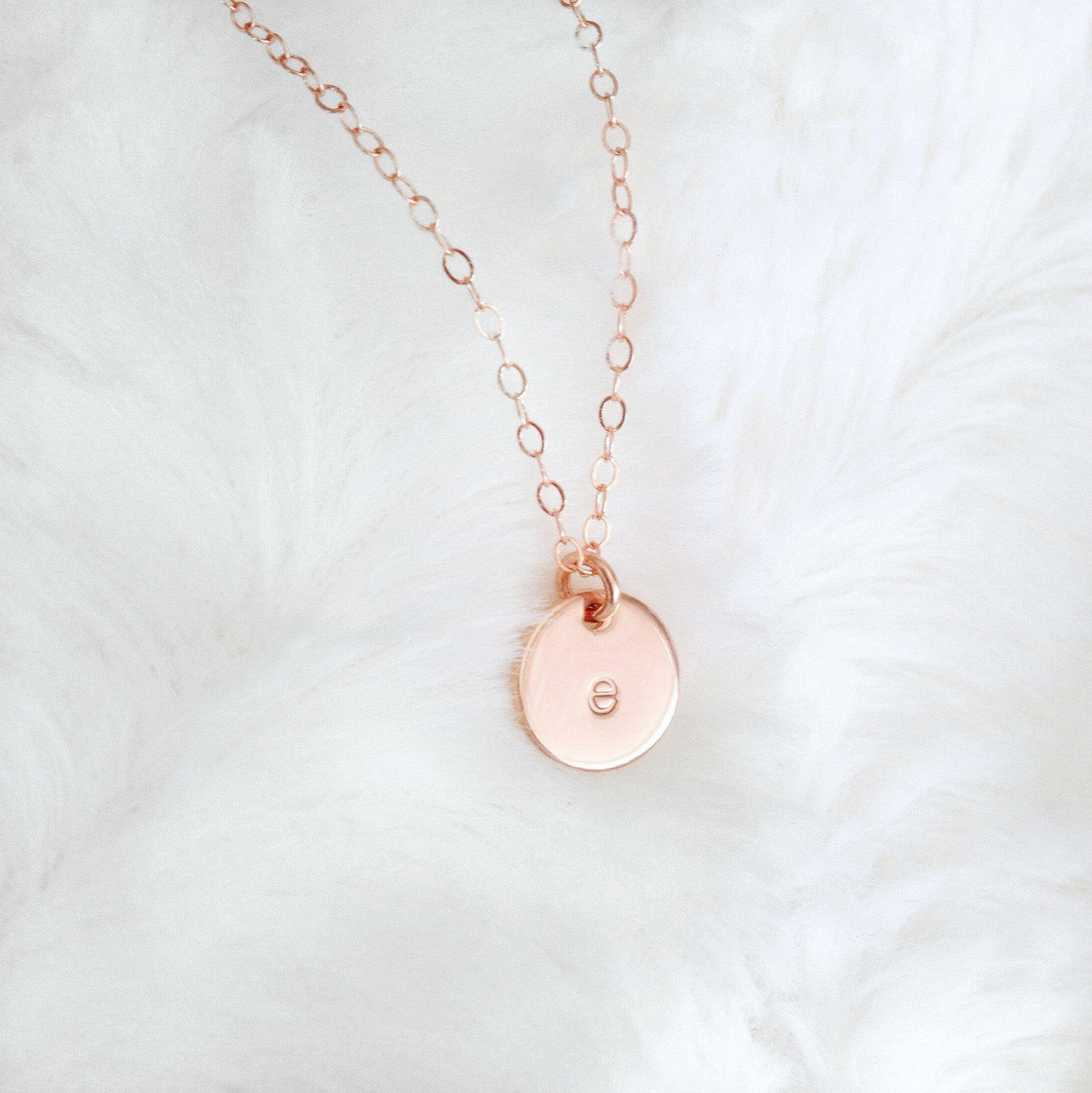 Tiny rose gold initial necklace eden zoe tiny rose gold initial necklace aloadofball