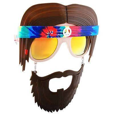 Get groovy with your Halloween costume with some far out 60s outfits and these Hippie Sun-Staches.