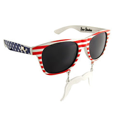 Celerate July 4th in style! Nothing says 'it's time to party America!' like the Patriot Sun-Staches.