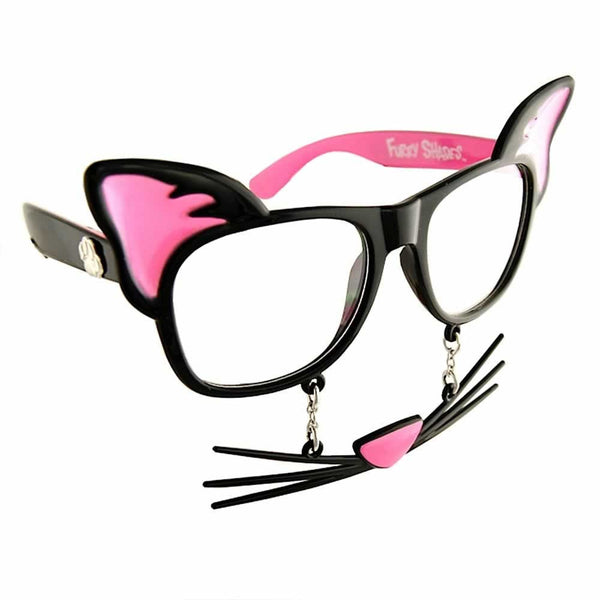 You don't need those old cat eye glasses to show your feline fondness. Get Cat Sun-Staches!