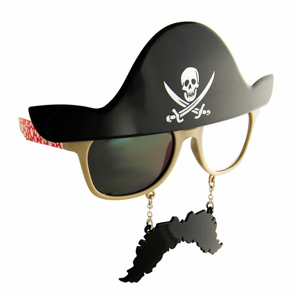 No need to get a full pirate costume when you've got the Pirate Sun-Staches. Parrot not included.