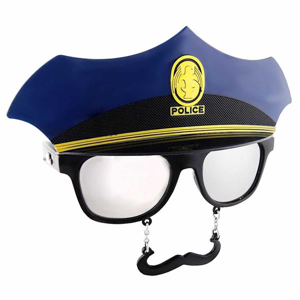 "With the Police Sun-Staches, you can stop perps and say ""hold it, I mustache you a question."""