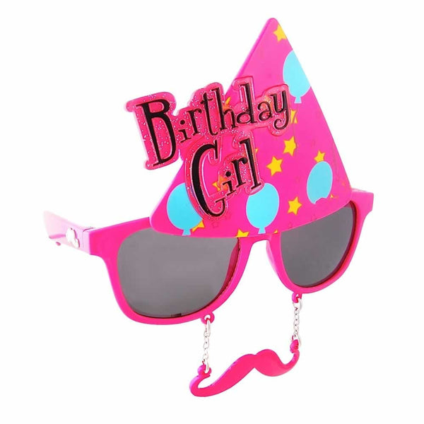 You're a year older, but with Sun-Stache's Birthday Girl glasses, style never ages.