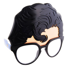 The Superman Sun-Staches are also part Clark Kent glasses. Perfect disguise for a superhero costume.