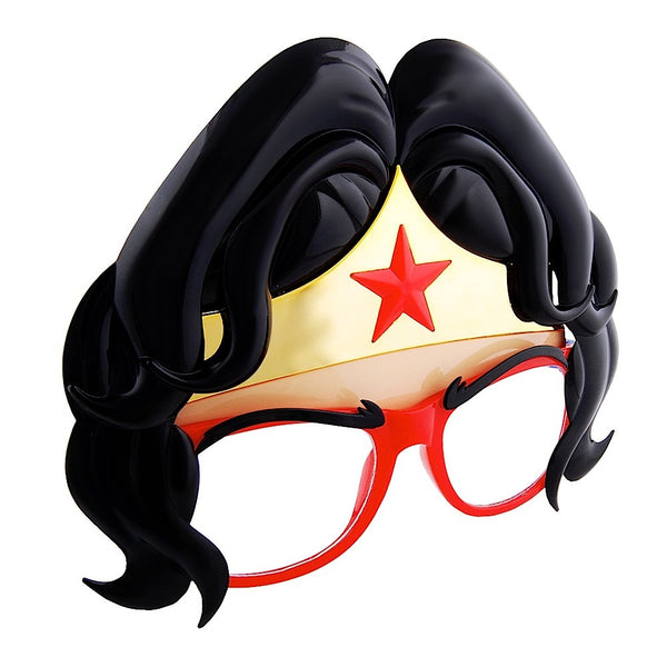 These Sun-Staches are part smart glasses, part Wonder Woman crown