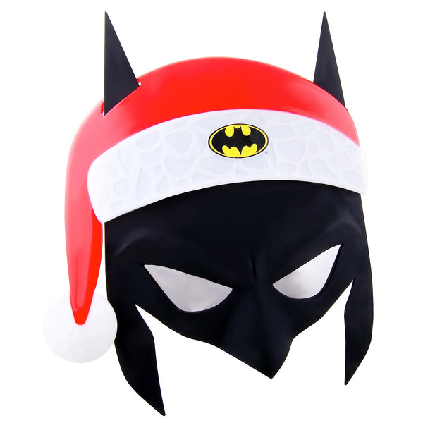 Before you head to the Christmas party, hang up your cape and get the Batman Santa Mask Sun-Staches.