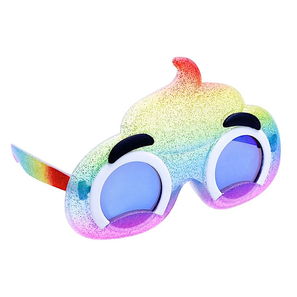 Rainbow Poop Lil Character Sun-Staches