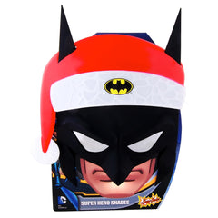 Hang up the cape and put on Batman Santa Mask Sun-Staches. You might end up give out Christmas gifts.
