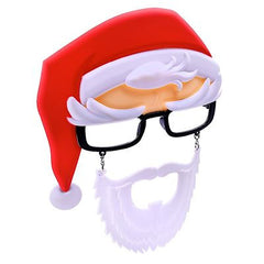Santa Claus w/ Glasses Sun-Staches®