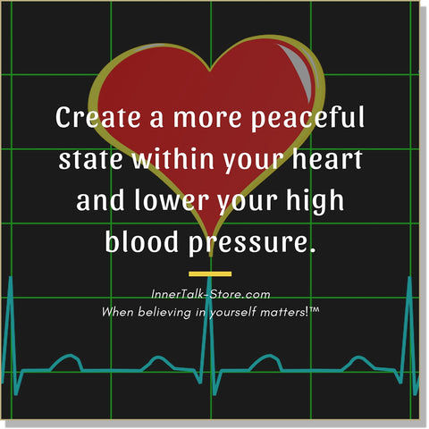 Lowered Blood Pressure - InnerTalk subliminal self-improvement affirmations CD / MP3 - Patented! Proven! Guaranteed! - The Best