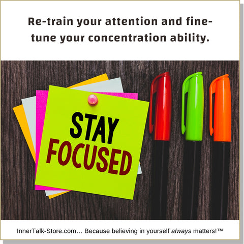 Concentration - InnerTalk subliminal self-improvement affirmations CD / MP3 - Patented! Proven! Guaranteed! - The Best