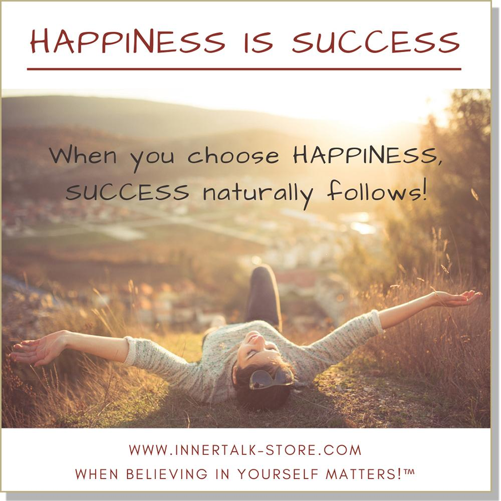Happiness is Success - InnerTalk subliminal self help / personal empowerment CD / MP3. Positive affirmations for positive change!