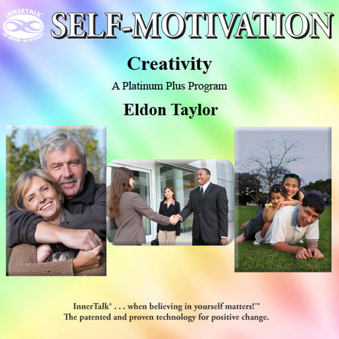 Creativity - Platinum Plus hypnotic tones and frequencies plus InnerTalk subliminal self help affirmations on CD and MP3