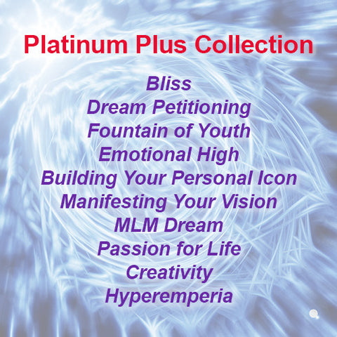 Platinum Plus CD Collection - Platinum Plus hypnotic tones and frequencies plus InnerTalk subliminal self help affirmations on CD and MP3