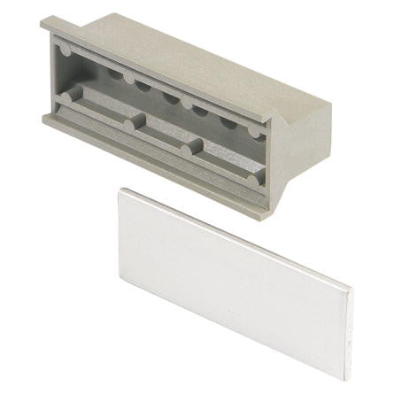 nVent Schroff | 20808-004 |  Handle, static, trapeziform, plastic, grey, 10HP