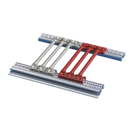 nVent Schroff | 64560-085 |  Guide rail with coding, red, 70mm,  (50pcs)