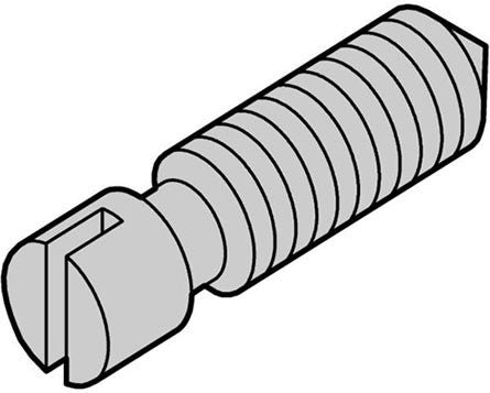nVent Schroff | 21101-359, SLOTTED SET SCREW, CONE POINT 100 PCS PER BAG (21101359)