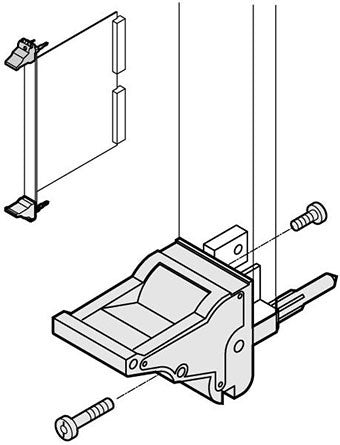 nVent Schroff | 20817-620 |  Inserter/extractor handle, type IEL, grey, bottom (Rear I/O 6 U top),  IEEE1101.10