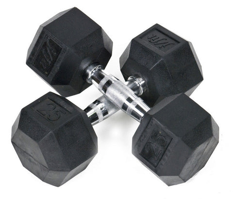 Rubber Hex Dumbbell Pair