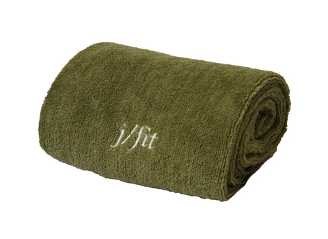 Yoga Towel - Olive Green