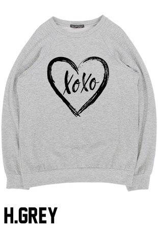 XOXO Heart Valentine's Day Cozy Sweatshirts