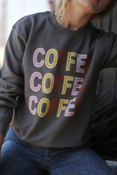 Coffee Graphic Sweatshirt