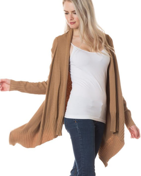 Ribbed Hi Lo Cardigan