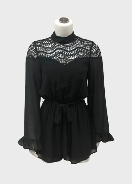 Crochet L/S Romper (2 colours)
