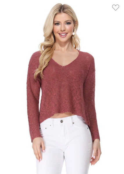 Sweater Crop Fashion Casual Pullover