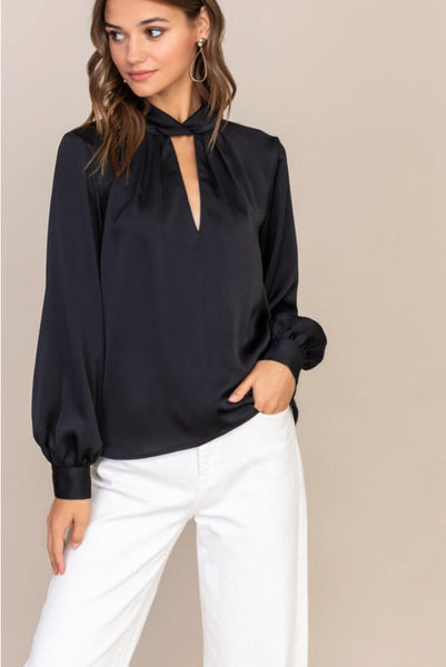 L/S Satin Blouse