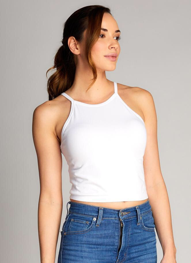 C'est Moi High Neck Crop Top