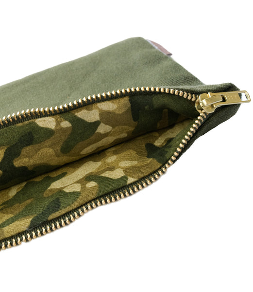Army Vintage Camo Canvas Pouch