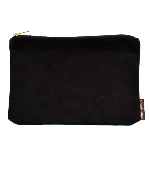 Men's Black Deluxe Canvas Pouch