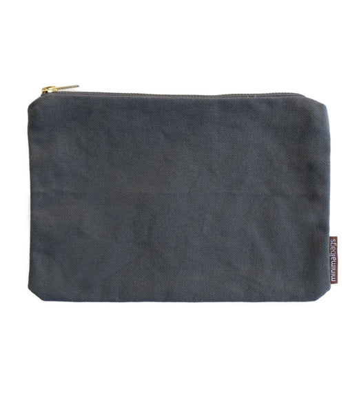 Charcoal Deluxe Canvas Pouch